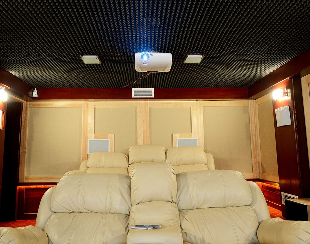 ceiling tiles in home theatres
