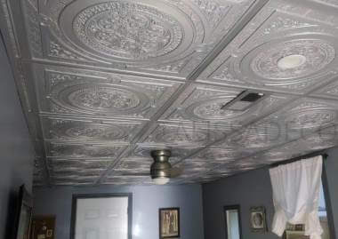 ceiling with white tiles Coquitlam