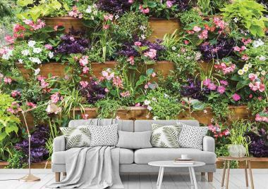 flowers wall murals Dallas