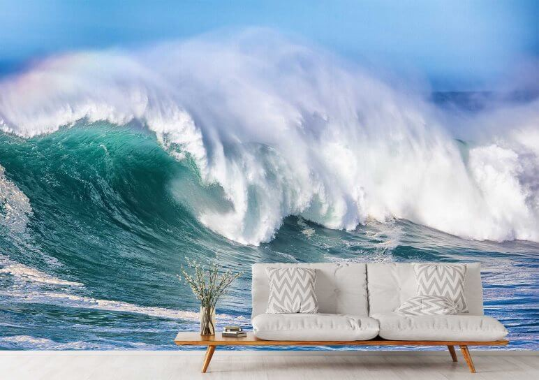 ocean wave wall murals Boston