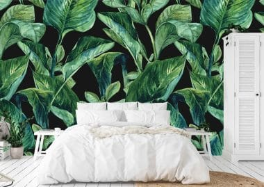 tropical leaves wall murals