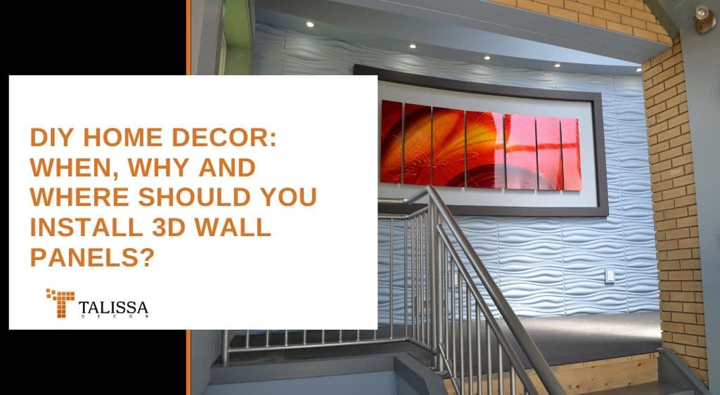 should you install 3d wall panels