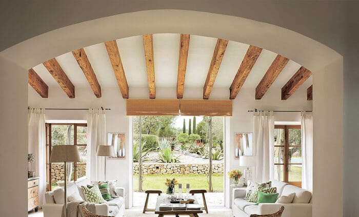 faux wood beams 2
