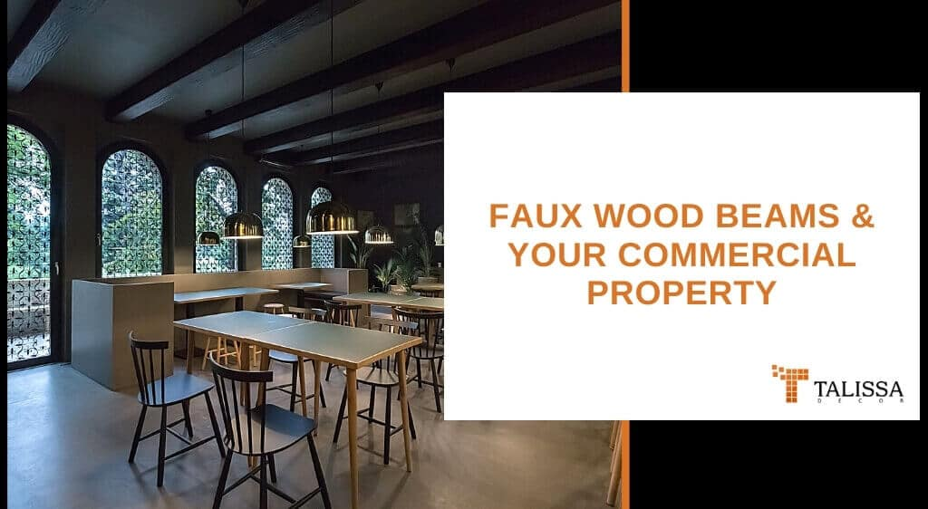 faux wood beams commercial property